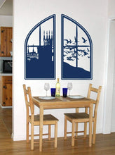 Load image into Gallery viewer, Large Castle Window Fantasy Vinyl Wall Decal - Pillbox Designs