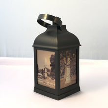 "Load image into Gallery viewer, 10"" Cemetery Lantern - LED candle included - Pillbox Designs"