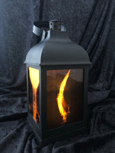 "Load image into Gallery viewer, 10"" X-Ray Gothic Lantern - LED candle included"