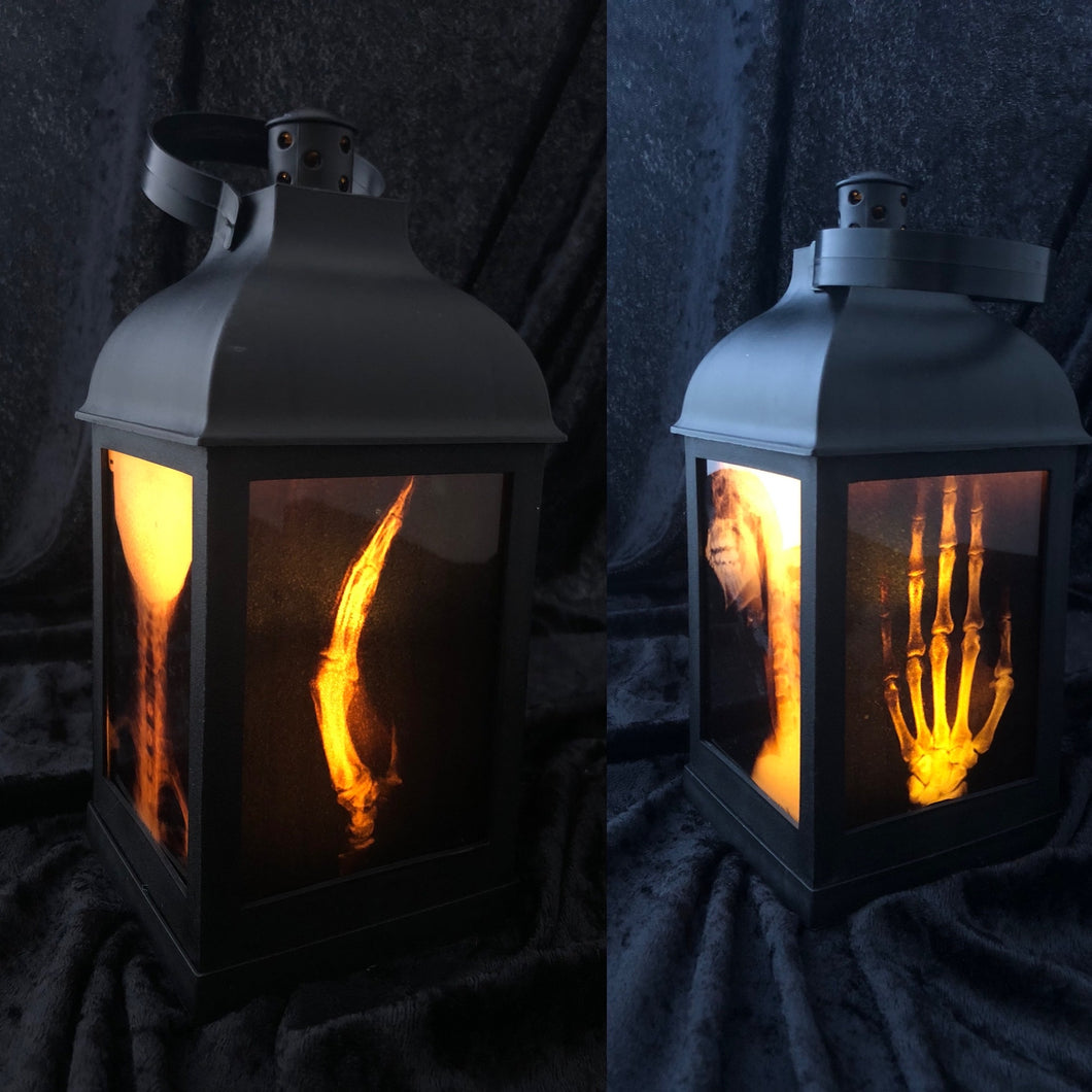 "10"" X-Ray Gothic Lantern - LED candle included"