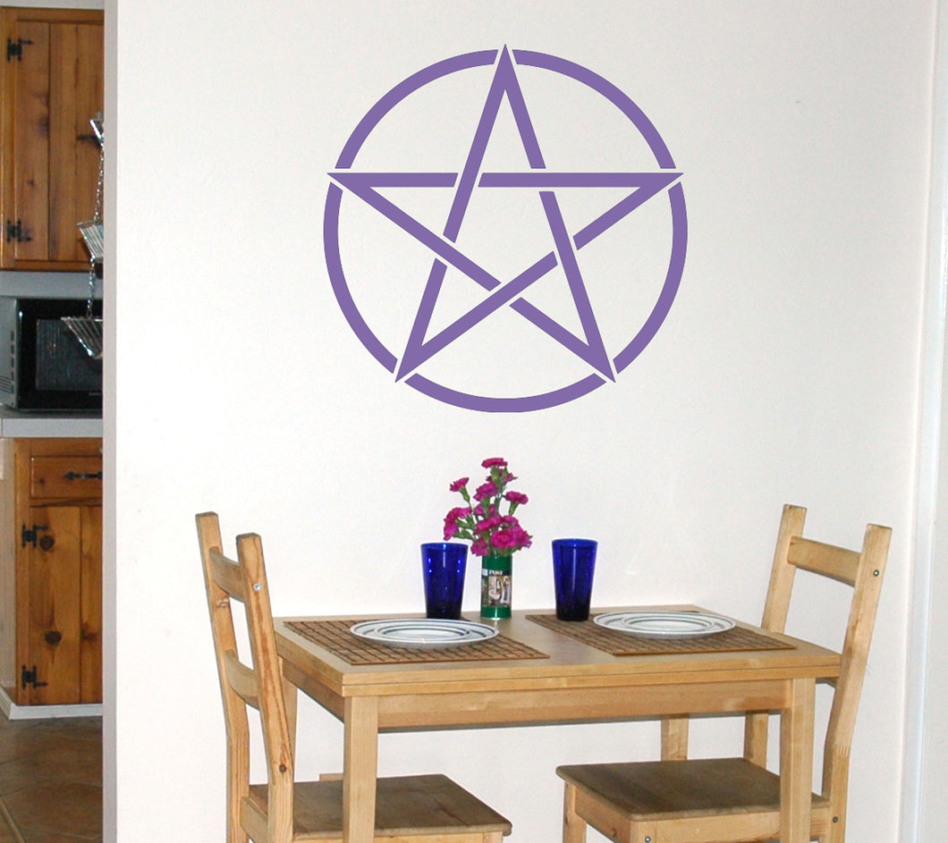 Pentacle wiccan Wall Decal