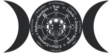 Load image into Gallery viewer, Pagan Wheel of the Year - Triple Goddess Vinyl Wall Art & Clock Kit