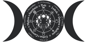 Pagan Wheel of the Year - Triple Goddess Vinyl Wall Art & Clock Kit