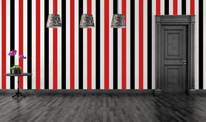 Gothic Wall Stripes Vinyl Decals Wallpaper - Pillbox Designs