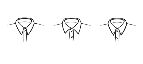 various mens dress shirt collar types infographic