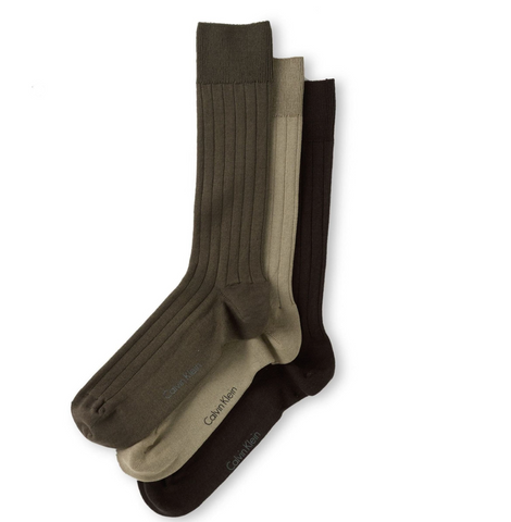 calvin klein 3 types of dress socks in one pack