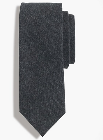 charcoal silk tie