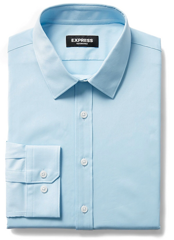 light blue express shirt