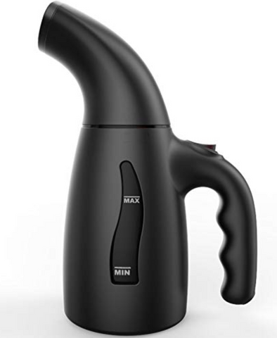 black garment steamer