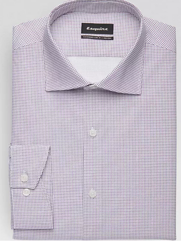 Mens Wearhouse non iron light purple shirt