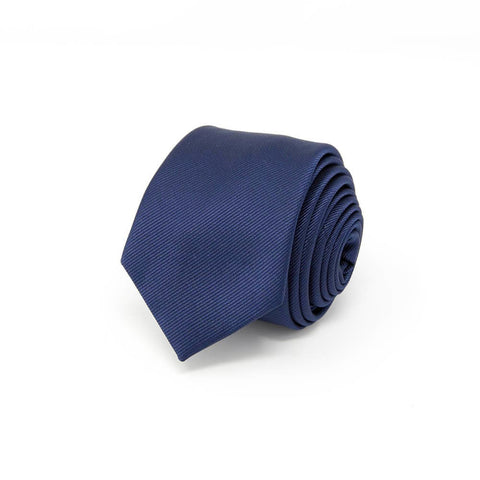 navy blue tie with white background