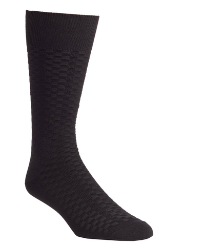 black textured dress sock from Nordstroms
