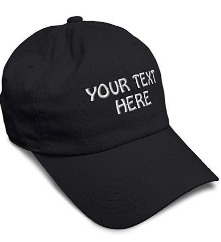 customized black baseball cap