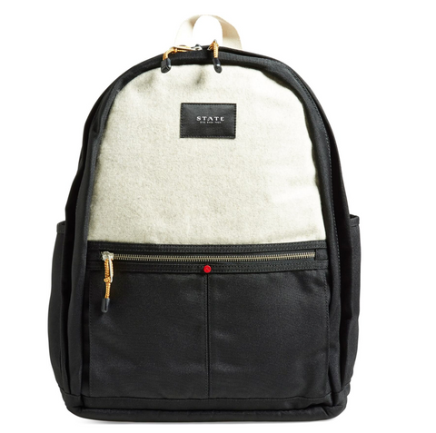 STATE white and black backpack