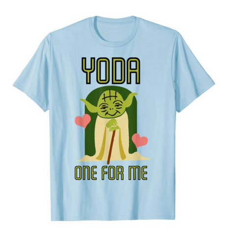 light blue yoda graphic t-shirt