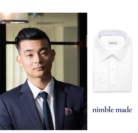 mens white dress shirt nimble made