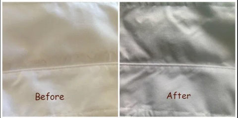 before and after picture of a shirt