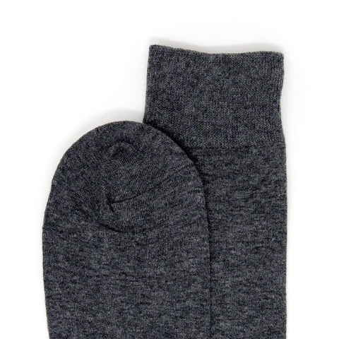 gray dark wool socks