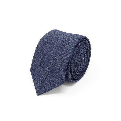denim blue tie