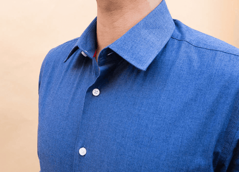 mens collar shirt for office blue