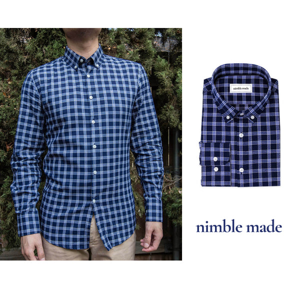 mens essential blue flannel shirt