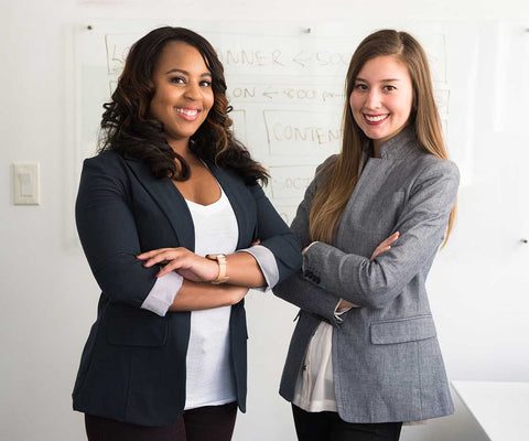 business women in professional clothing