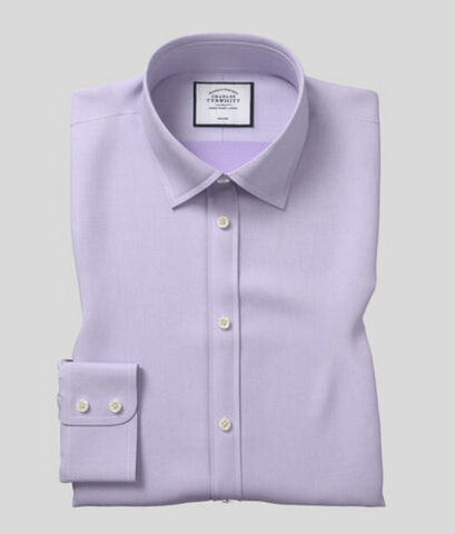 lilac non iron dress shirt