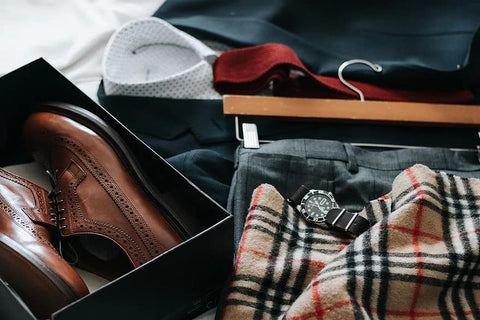 men's clothes and accessorizes
