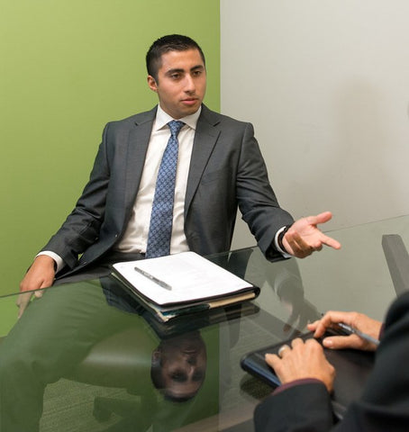 Man at the interview