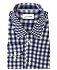 dark navy gingham shirt