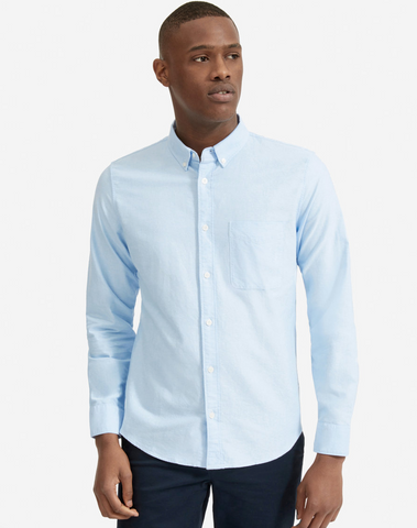 Everlane light blue dress shirt