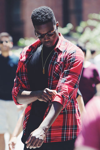 casual flannel plaid outfit