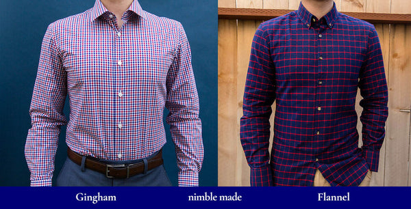 full body difference between gingham and flannel