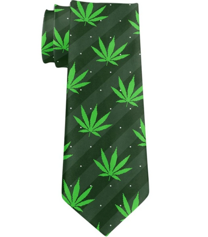 green weed tie