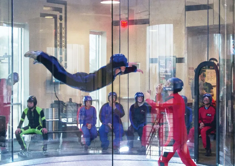 indoor skydiving group
