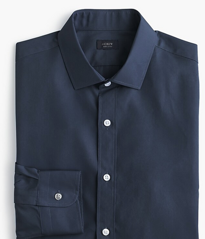 jcrew ludlow navy blue dress shirt