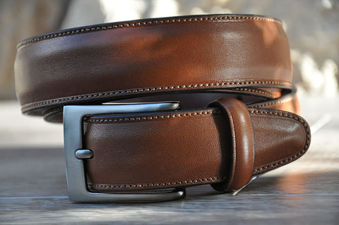 male brown leather belt