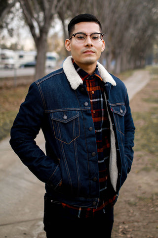 flannel with jacket layered