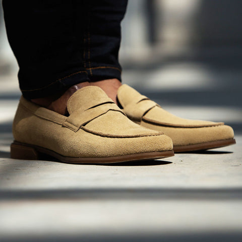mens dress shoe suede loafers
