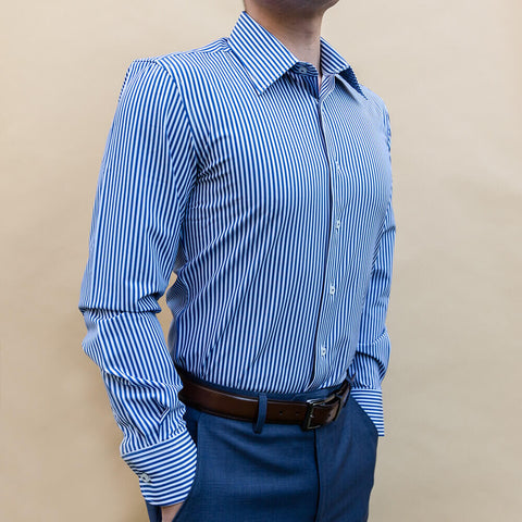 striped pattern dress shirt