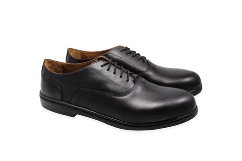 plain toe black oxford dress shoes