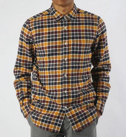 portugese flannel shirt in yellow and blue