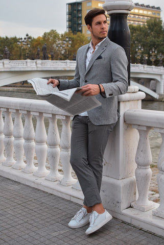 summer gray pants mens fashion