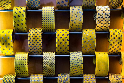 different yellow ties