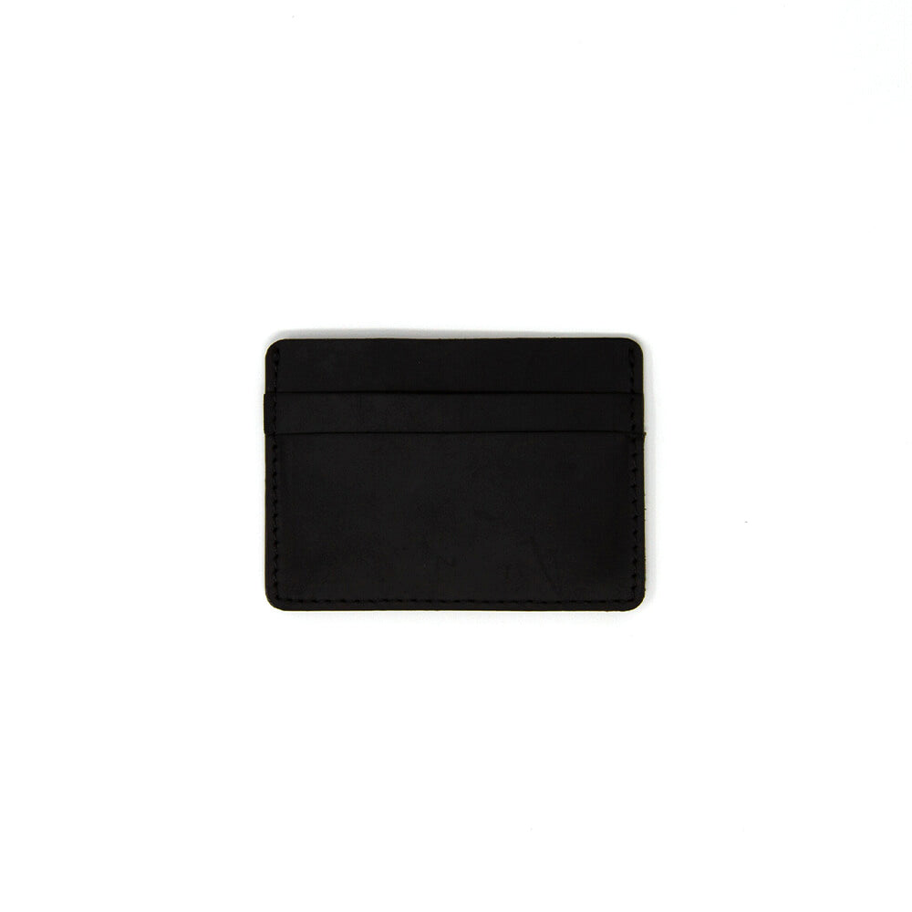 Matte Black Men's Slim Leather Wallet
