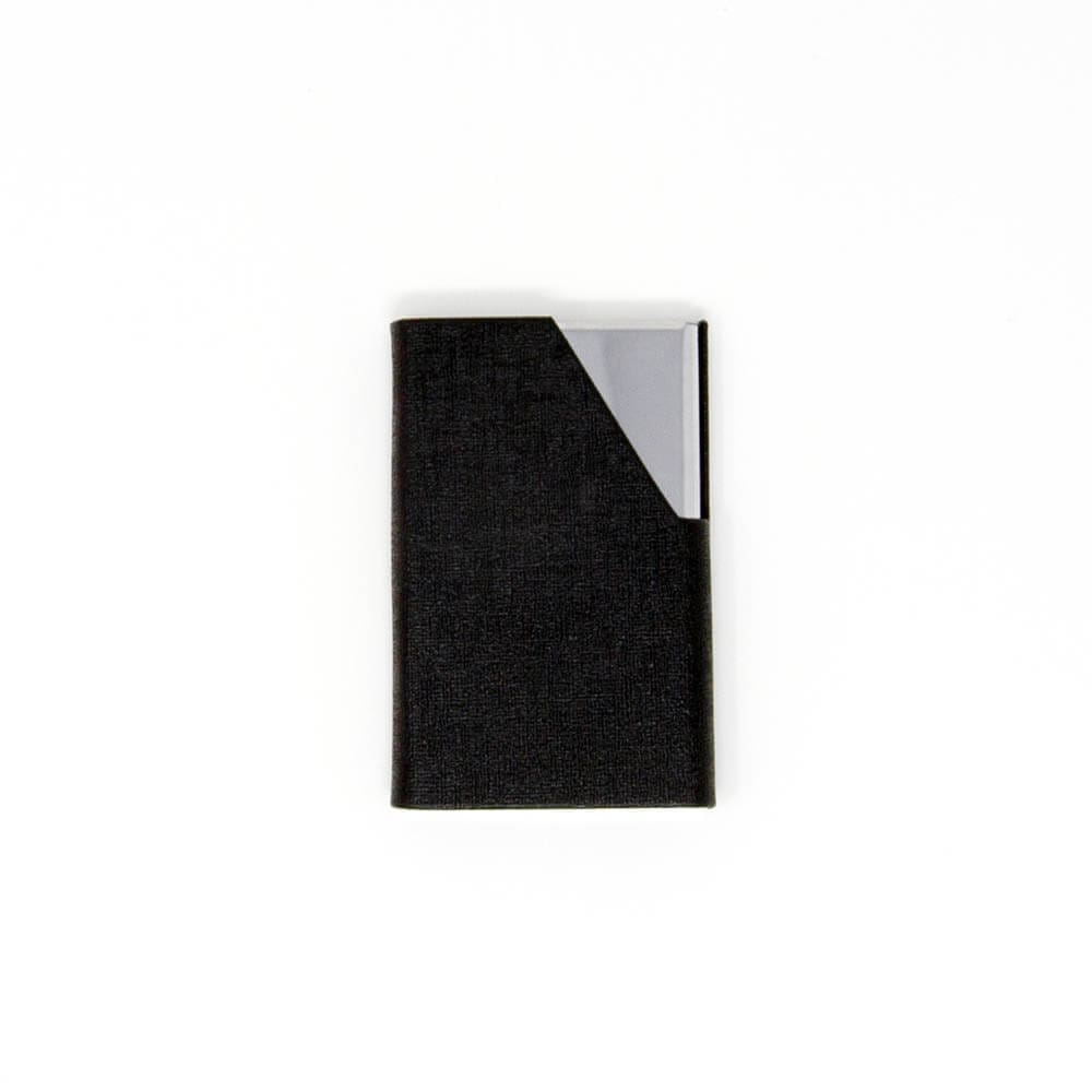Black Metallic Card Holder