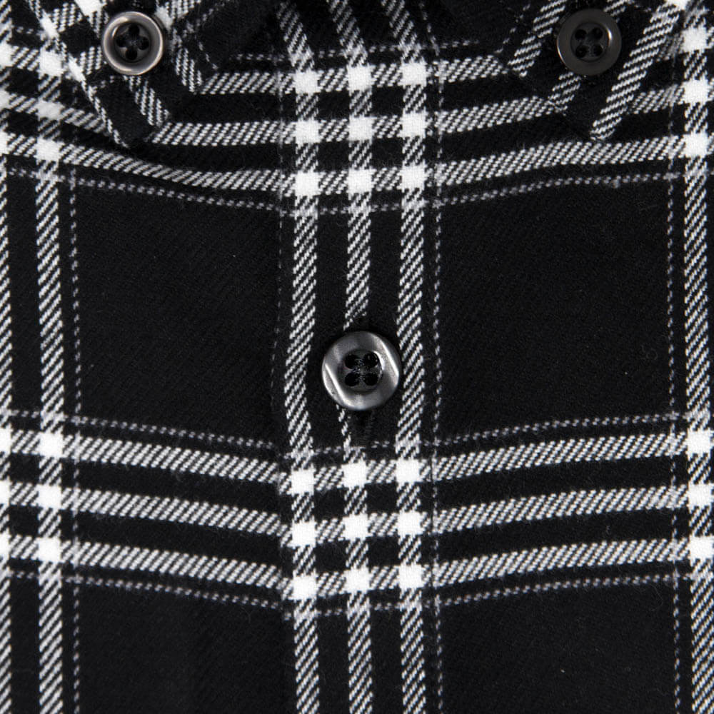 Black and White Flannel Button Down Shirt | The Script