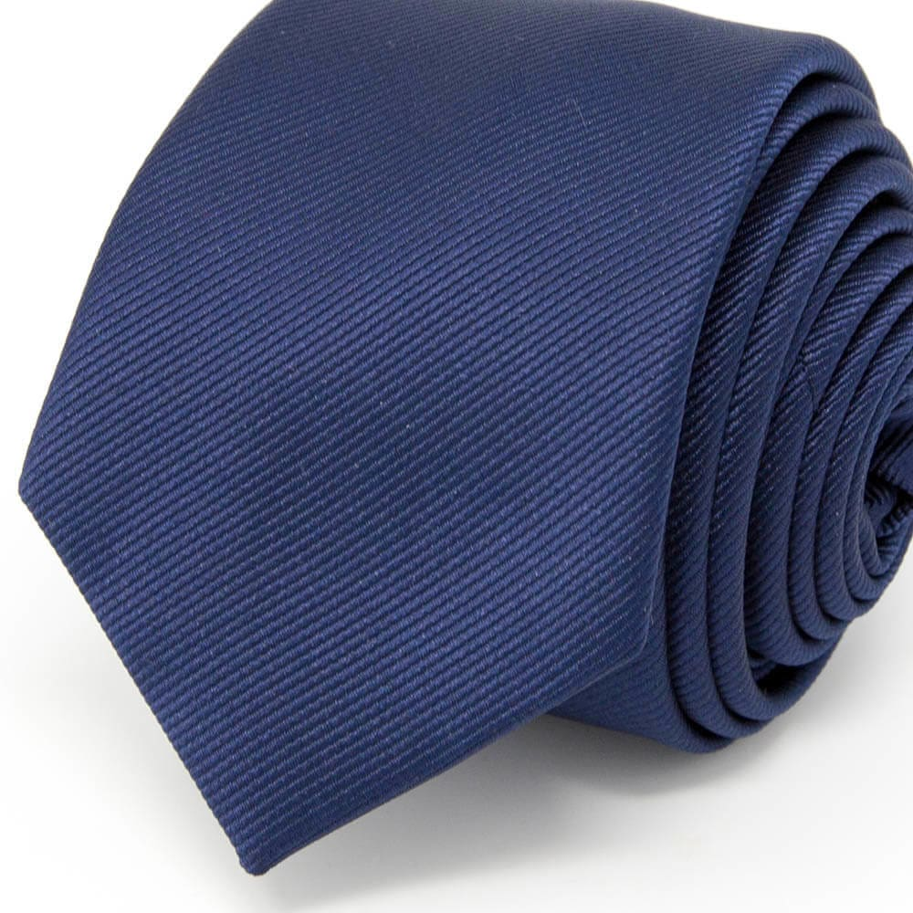 Classic Solid Navy Blue Tie