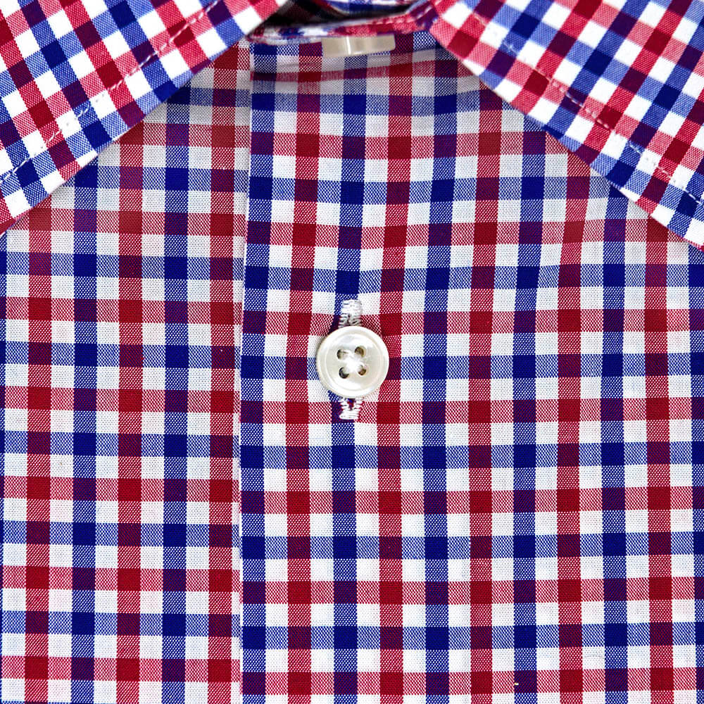 Red and Blue Checked Dress Shirt | The Kang