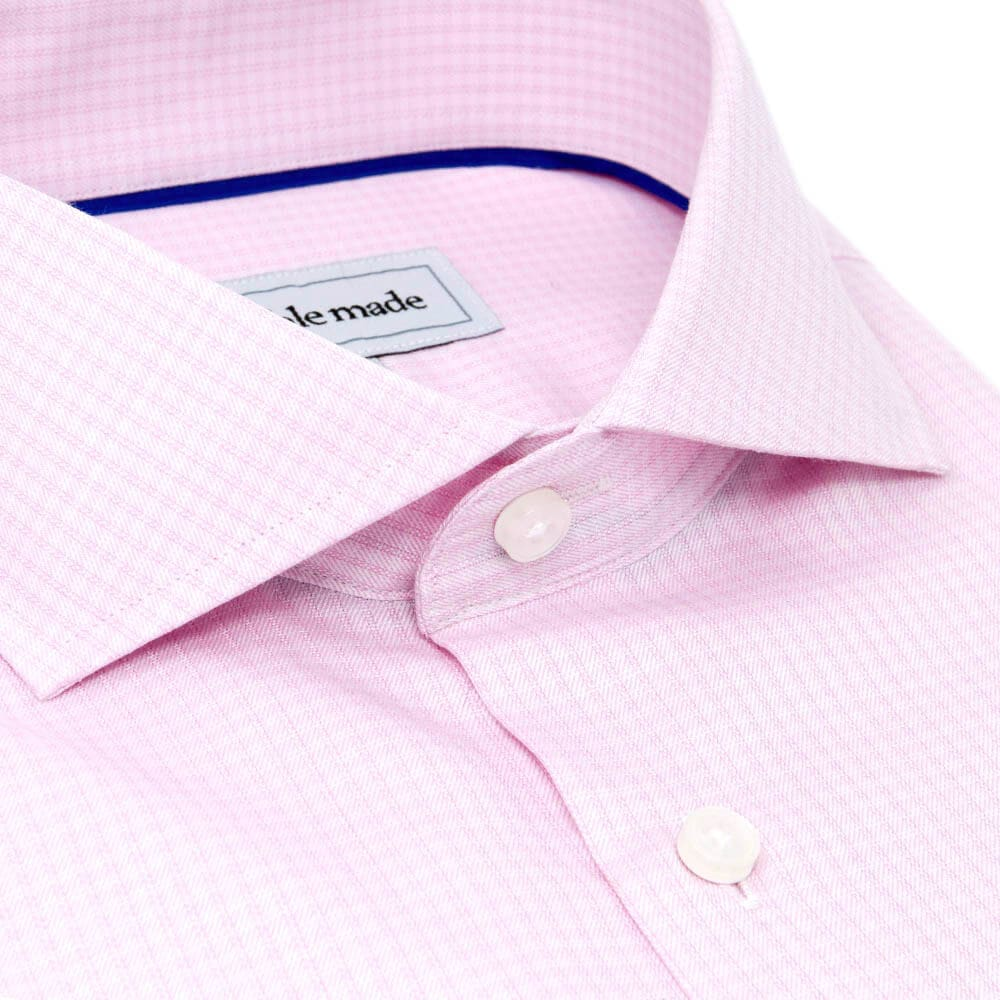 Pink Checkered Cutaway Dress Shirt | The Lei